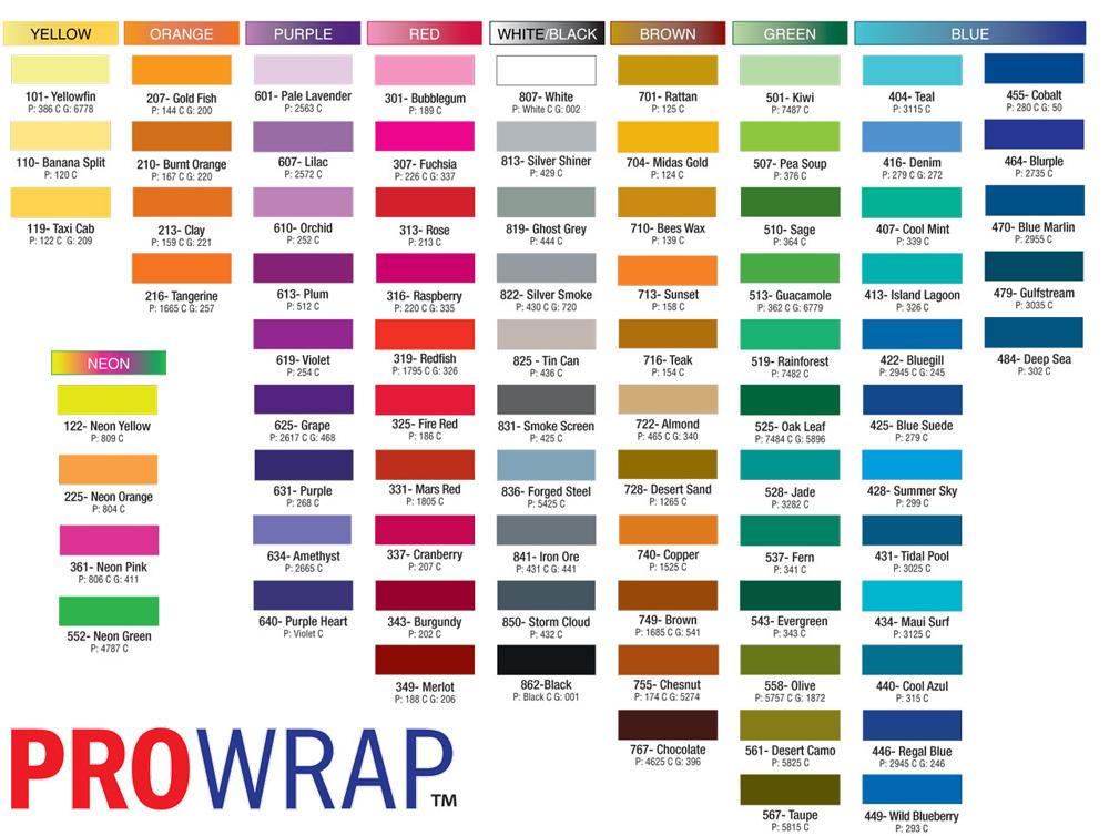 pro wrap color fast size d 100yd spools